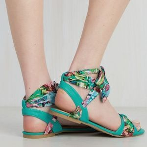 ModCloth Cruise Your Cool Sandal in Sea Blue